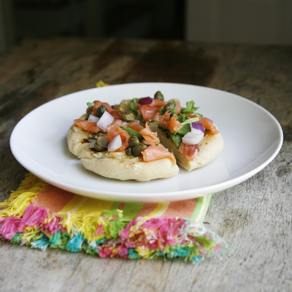 Gluten-Free Smoked Salmon Breakfast Pizza