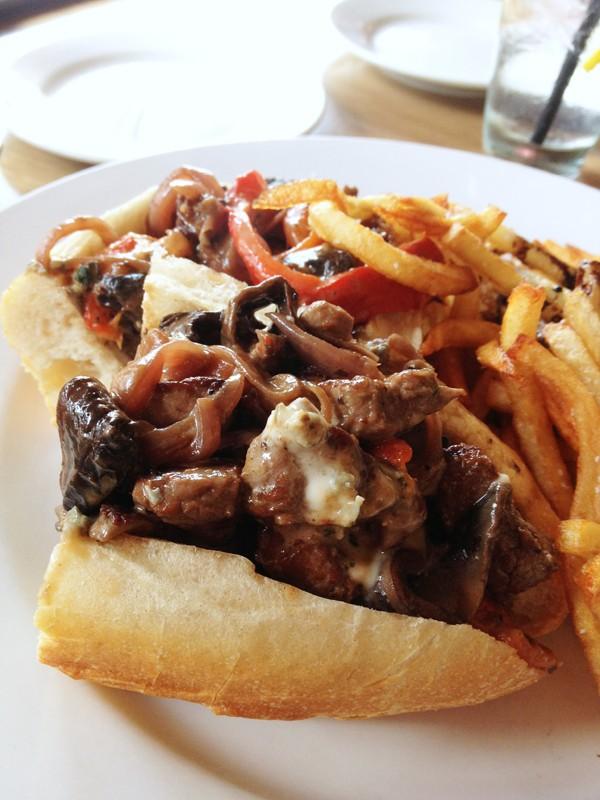 Steak Tips Sandwich