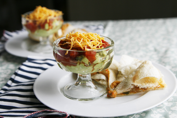 Triple Layer Quesadilla Dip