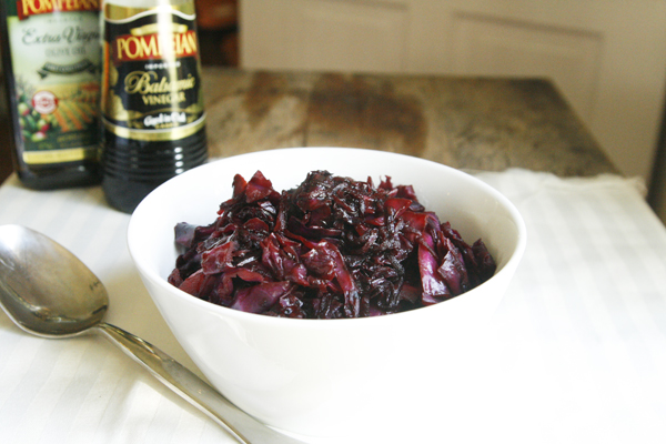 Warm Balsamic Red Cabbage and Beet Salad