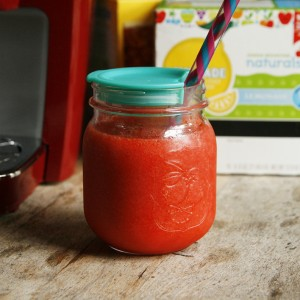 Easiest Strawberry Lemonade Slushies
