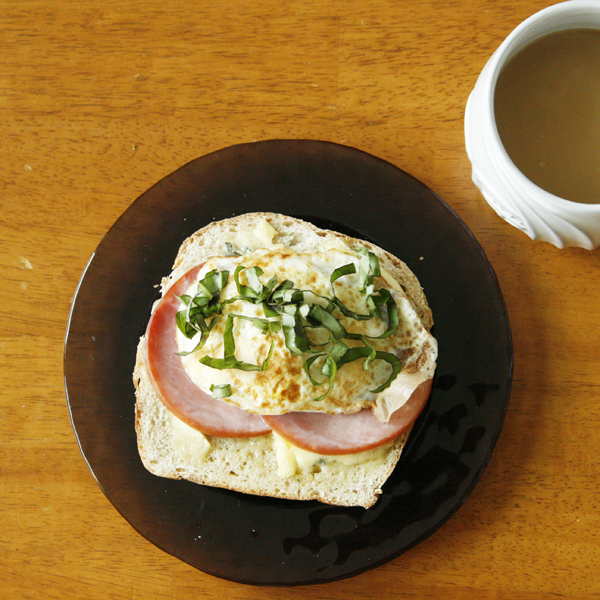 Cambozola Ham Egg Breakfast Sandwich
