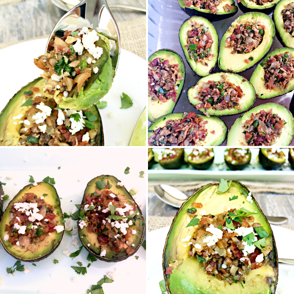 Roasted Stuffed Avocados process
