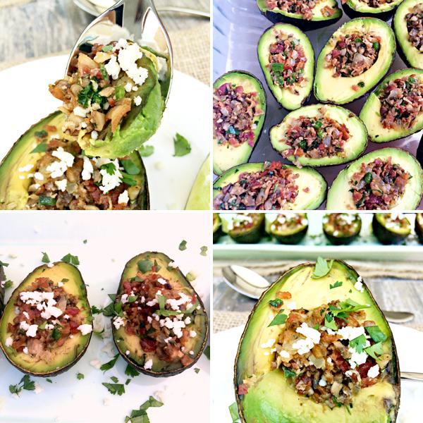 Roasted Stuffed Avocados process