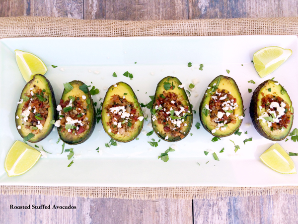 Roasted Stuffed Avocados from The Complete Savorist