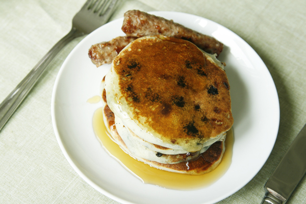 Blueberry White Chocolate Buttermilk Pancake Recipe