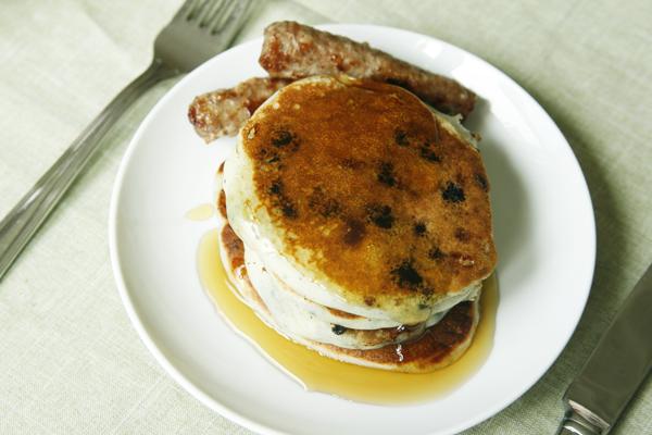 Blueberry White Chocolate Buttermilk Pancake Recipe