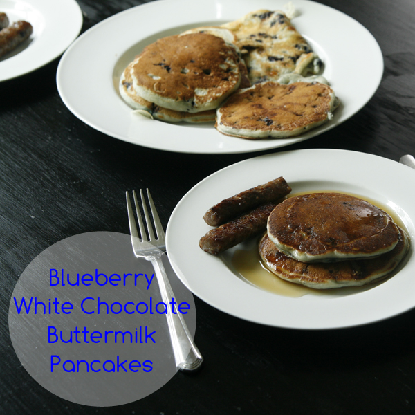 Blueberry White Chocolate Buttermilk Pancakes - Sarah's Cucina Bella