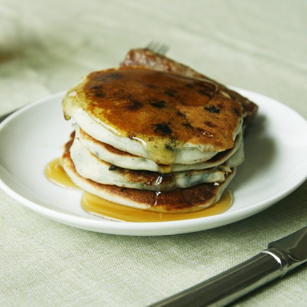 Blueberry White Chocolate Buttermilk Pancakes