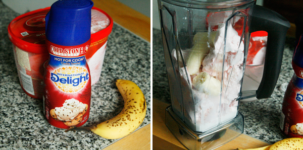 Making a Fruity Milkshake