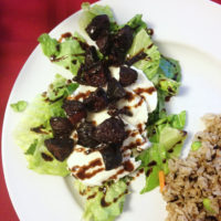 Roasted Beet and Fresh Mozzarella Salads