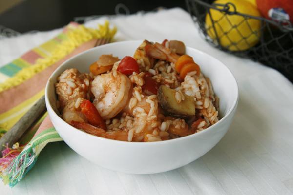 Slow Cooker Chicken and Shrimp Jambalaya Recipe