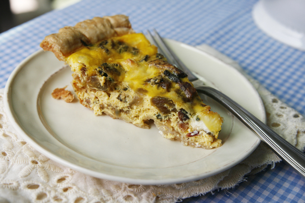 Farmers Market Bacon Quiche