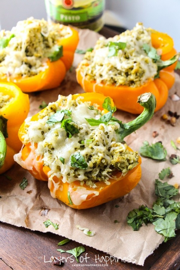 04 - Layers of Happiness - Pesto Chicken Stuffed Peppers