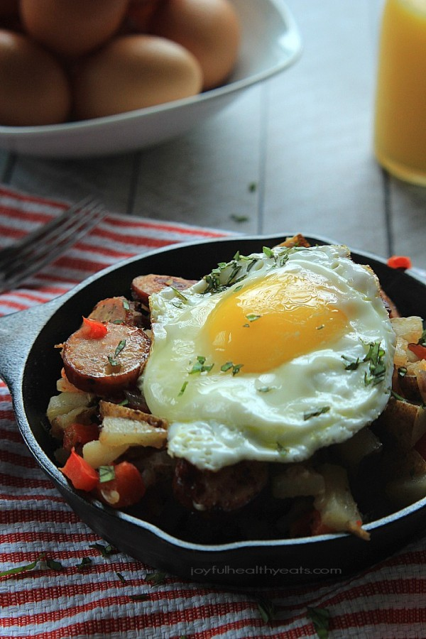 05 - Joyful Healthy Eats - Chicken Sausage Pepper Potato Hash
