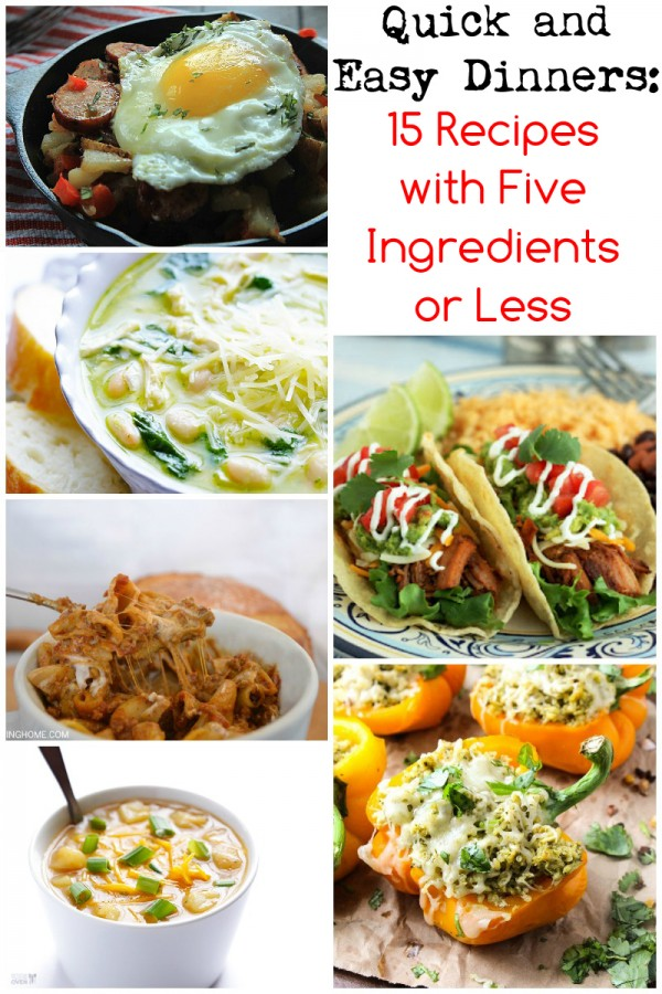 Working Mom's Notebook: 15 Recipes with Five Ingredients or Less