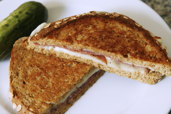 Grilled Cheese with Salami