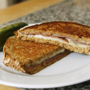 Grilled Mozzarella and Pepper Salami Sandwiches