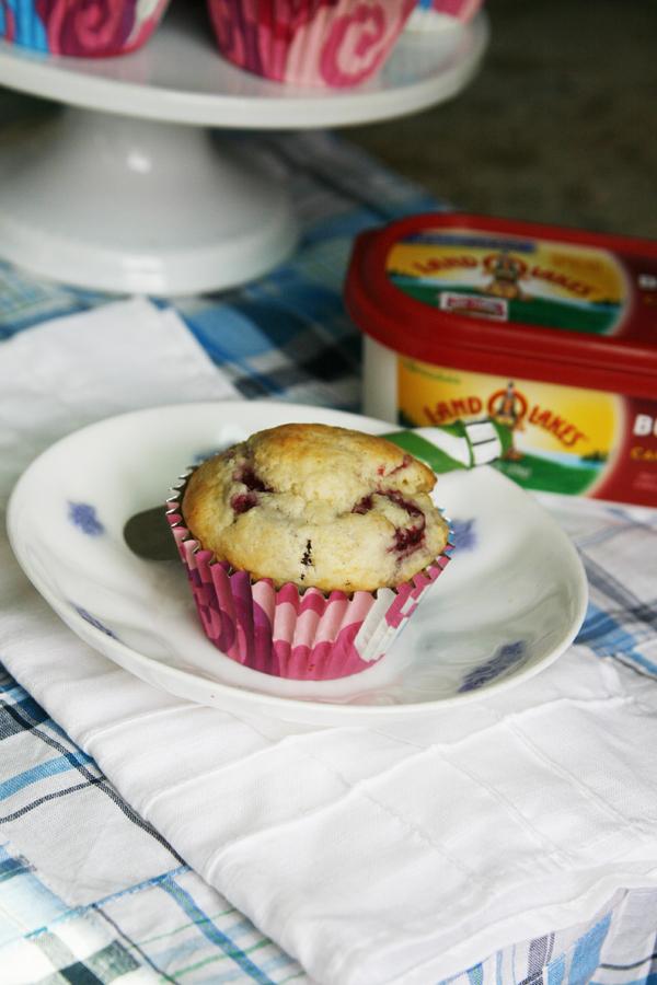 Homemade Raspberry White Chocolate Muffins