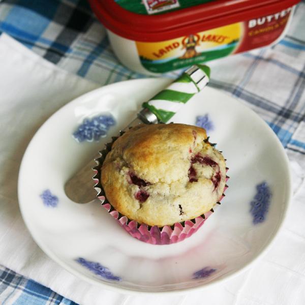 Hot Raspberry White Chocolate Muffins