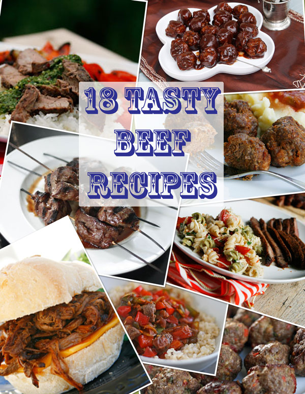 Meal Planning: 18 Beef Recipes, and Some Interesting Tidbits about Beef
