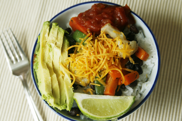 Quick and Easy Veggie Black Bean Rice Bowls