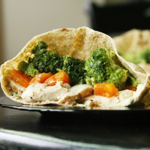 Chicken Veggie Pita Pocket Sandwiches