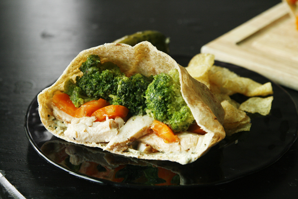 Chicken Veggie Pita Pockets