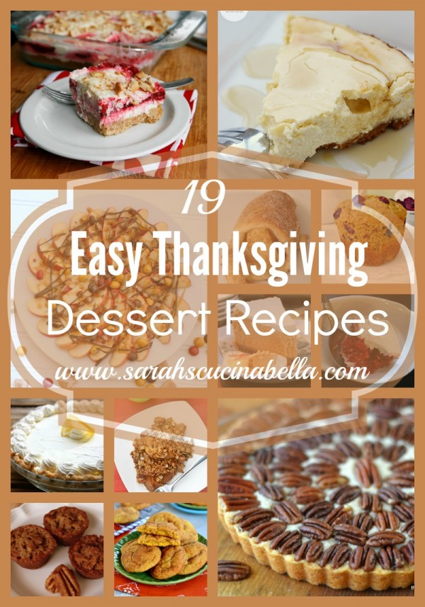 19 Easy Thanksgiving Dessert Recipes