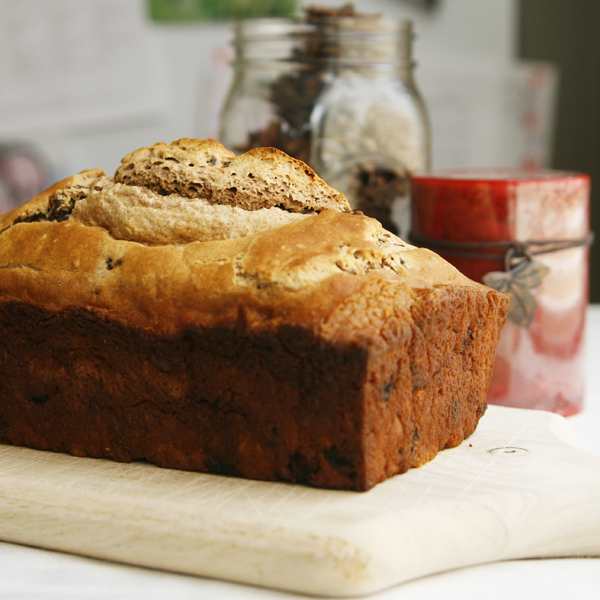 Beer Bread with Cinnamon and Raisins