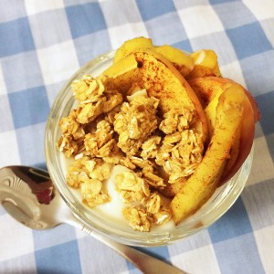 Easy Roasted Apple Sundaes with Yogurt (and Marie Callender's pot pies)