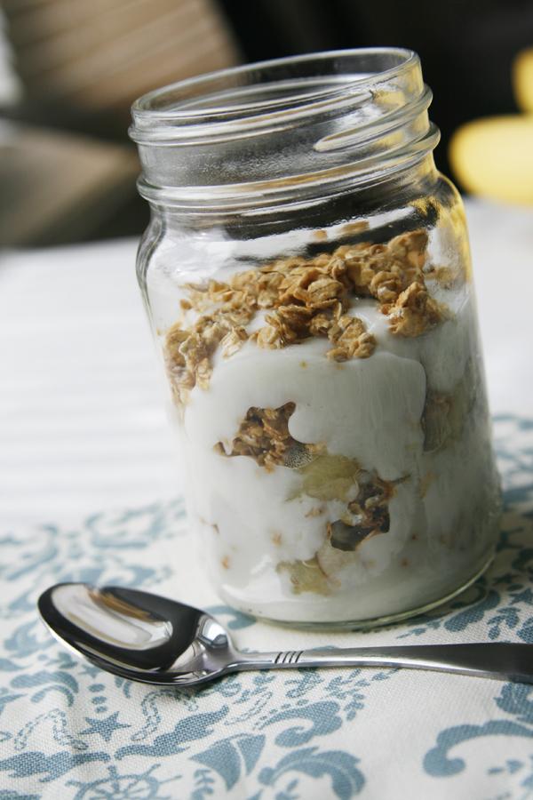 Sauteed Banana Granola Yogurt Parfait