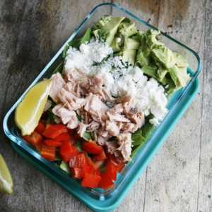 Tuna, Avocado and Feta Salad with Lemon