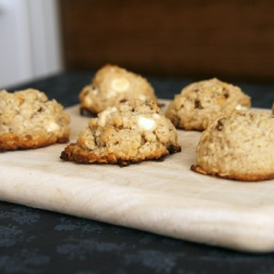 Oatmeal Pecan White Chocolate Cookies