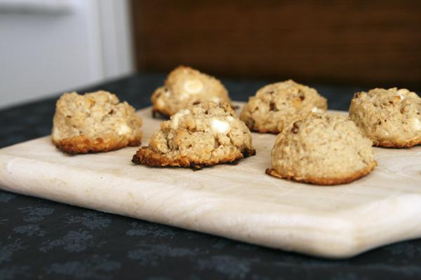 Oatmeal Pecan White Chocolate Cookies (Egg-Free Cookies!)