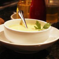 Creamy Potato Leek Soup with Bacon