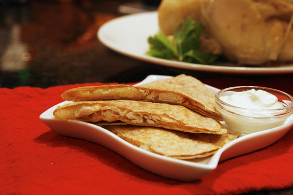 Creamy Chicken Quesadillas