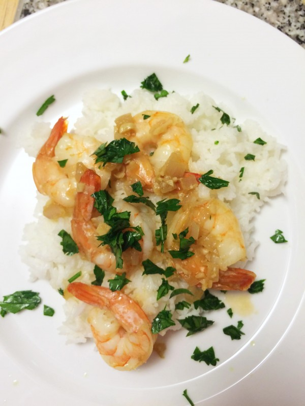 Roasted Shrimp with Shallots and Garlic