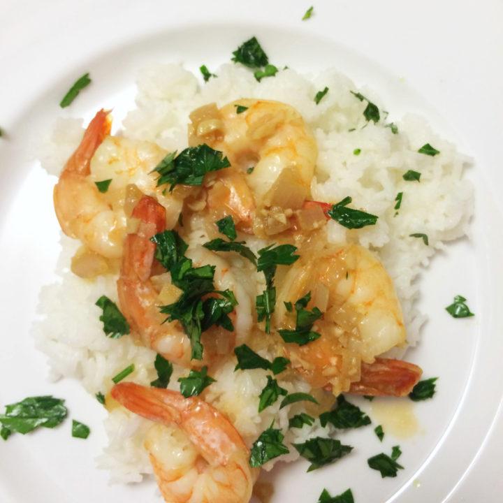 Roasted Shrimp with Shallots and Garlic