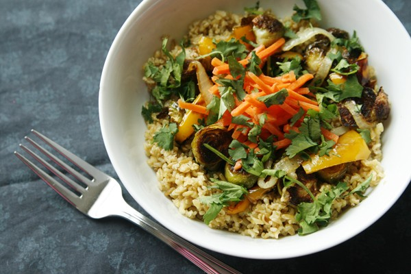 Roasted Vegetable Bowl with Freekeh