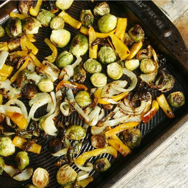 Roasted Vegetable Bowl with Pickled Carrots