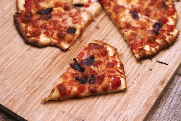 Tomato Chile Bacon Pizza