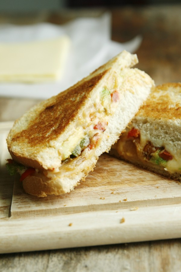 Spicy Fajita Grilled Cheese