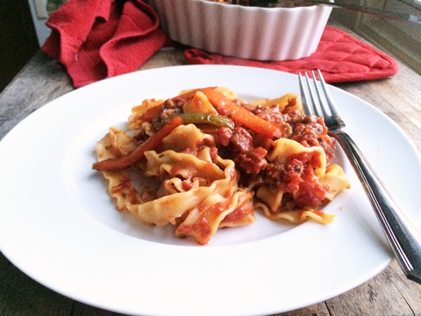 Sausage and Pepper Pasta Bake