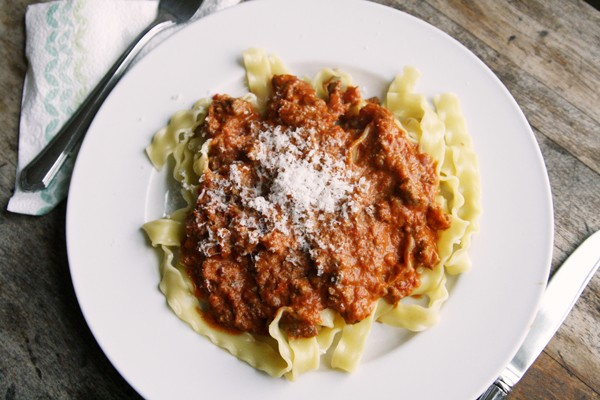 Pasta with Sausage Tomato Cream Sauce