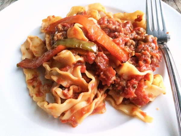 Sausage and Pepper Pasta Bake Recipe