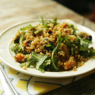 Asian Quinoa Salad with Sweet Potatoes, Parsnips and Arugula