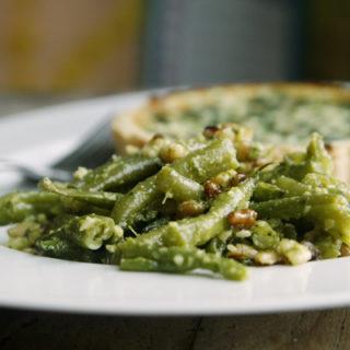 Pesto Green Bean Salad with Walnuts