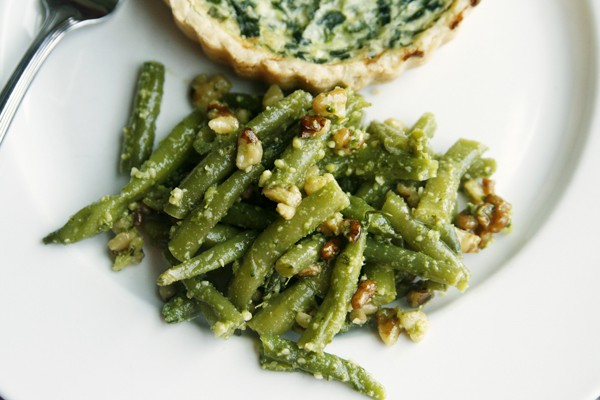 Pesto Green Bean Salad with Walnuts