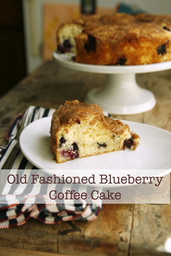 , moist and stuffed with berries, this Old Fashioned Blueberry Cake ...